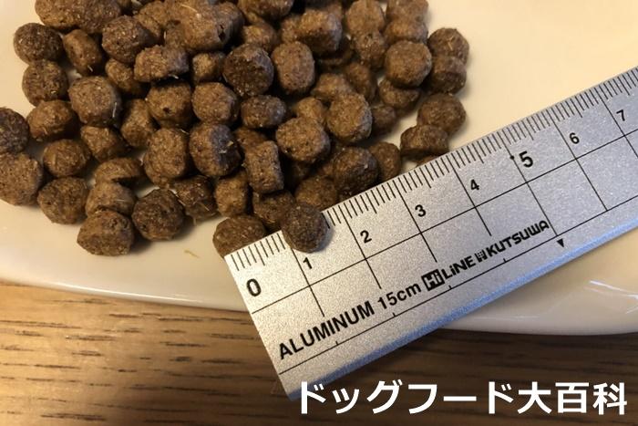 ファインペッツの粒の大きさ